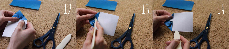 Origami Herz Anleitung Schritt 12-14