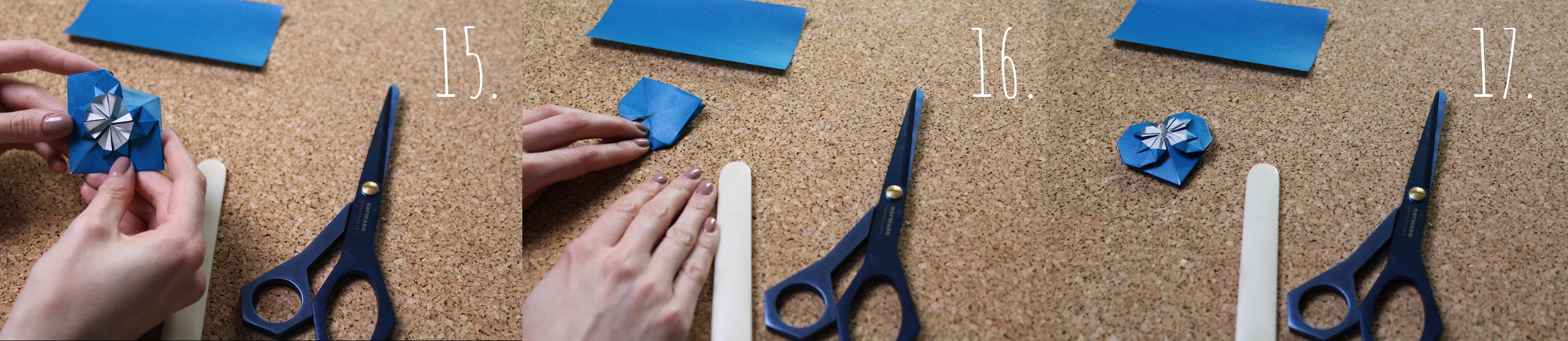 origami herz falten einfache anleitung frau friemel. Black Bedroom Furniture Sets. Home Design Ideas