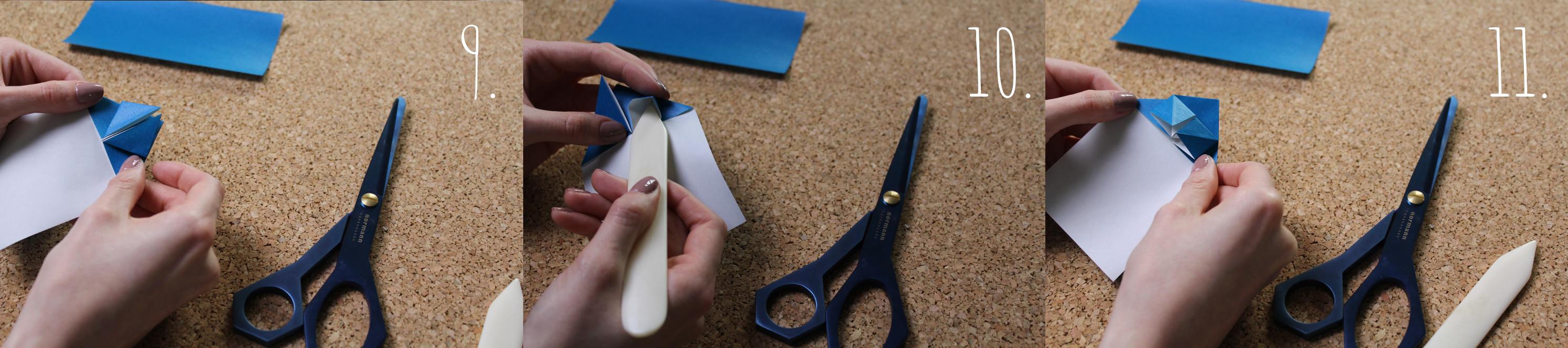 Origami Herz Anleitung Schritt 9-11