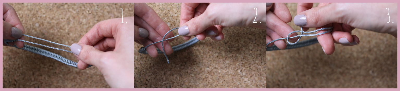 Armbänder Verschlüsse - Gleitverschluss Anleitung von frau friemel Schritt 1-3