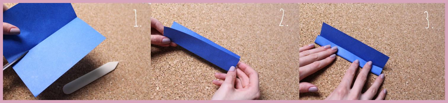 Origami Segelschiff Anleitung Schritt 1-3