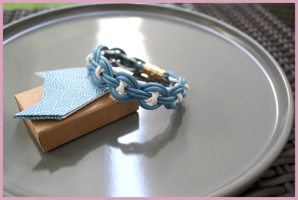 Bastelanleitung für Armbänder flechten im maritimen Stil von frau friemel