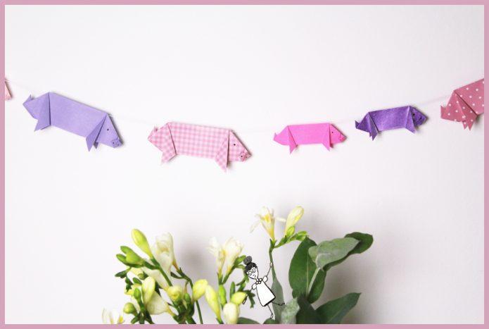 rigami Schwein falten mit Schritt für Schritt Anleitung von frau friemel