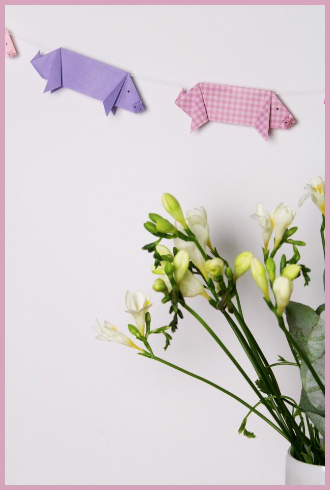 Origami Schwein falten mit frau friemel