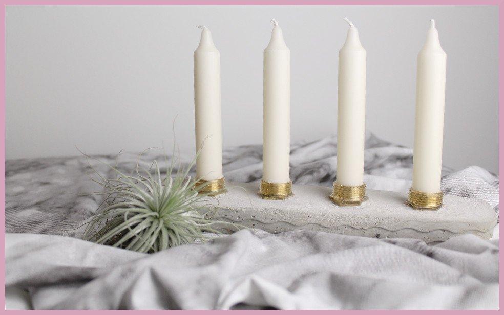 DIY Beton Kerzenständer von frau friemel