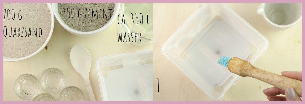 Teelichthalter aus Beton basteln mit frau friemel Schritt 1