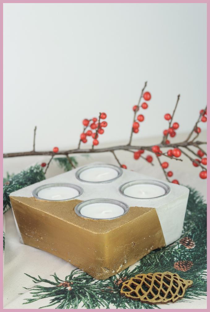 Teelichthalter aus Beton selbermachen mit frau friemel