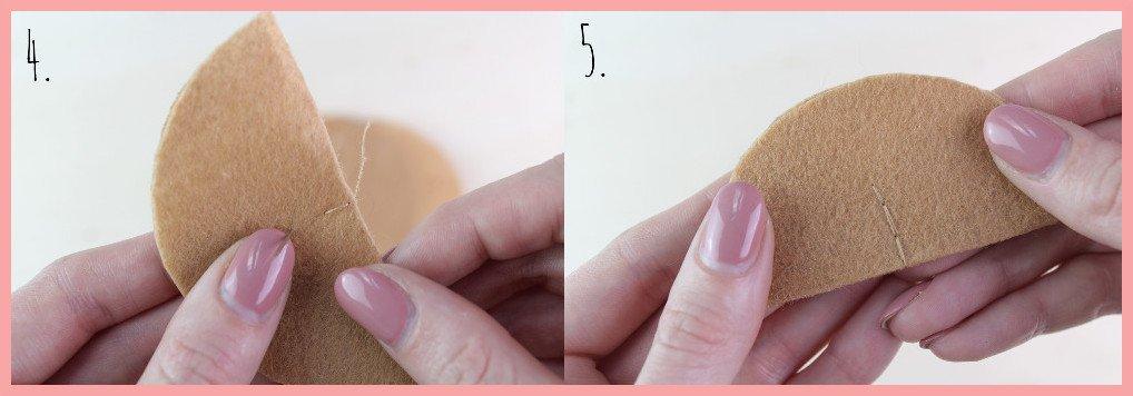 Partydeko selber machen - Glückskekse aus Filz Schritt 4-5
