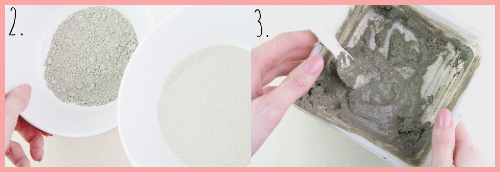 Ostereier aus Beton basteln mit frau friemel Schritt 2-3