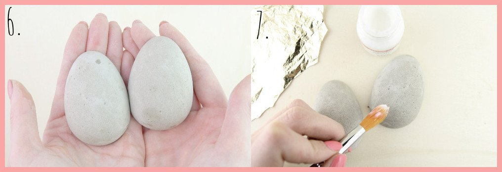 Ostereier aus Beton basteln mit frau friemel Schritt 6-7