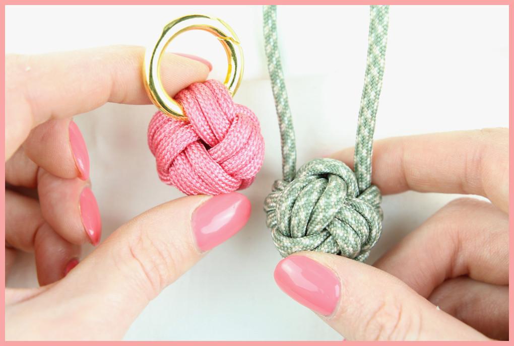 Schlüsselanhänger Knoten mit frau friemel Verschieden Versionen