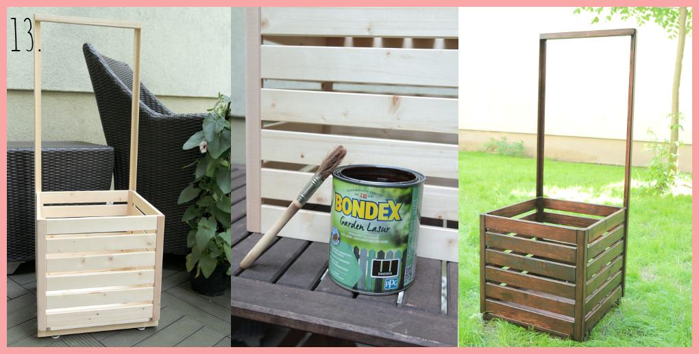 DIY Blumenkasten selber bauen mit Rankhilfe - Schritt 13