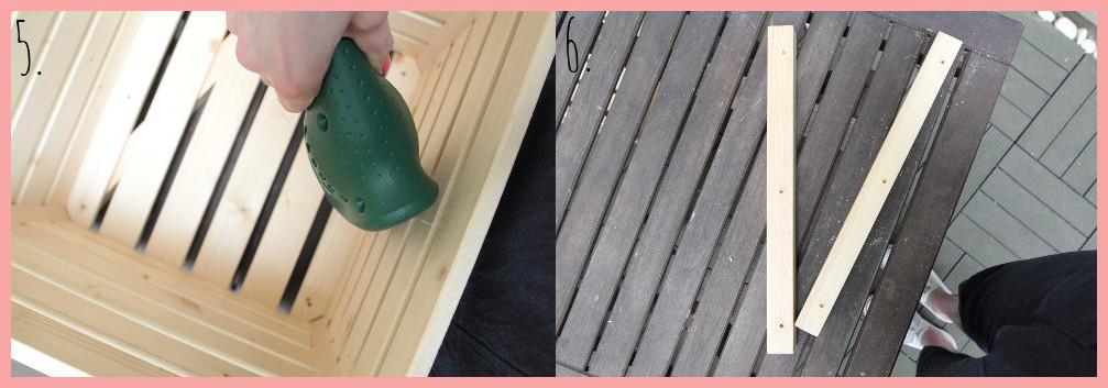 DIY Blumenkasten selber bauen mit Rankhilfe - Schritt 5-6