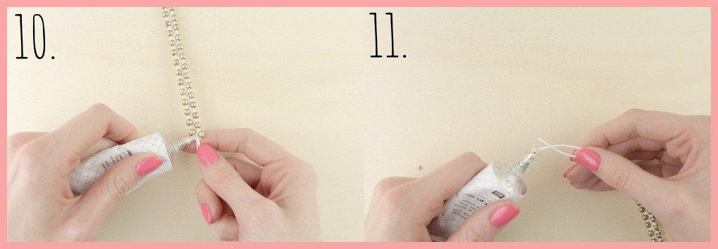Makramee-Armband knüpfen mit Perlen mit frau friemel - Schritt 10-11