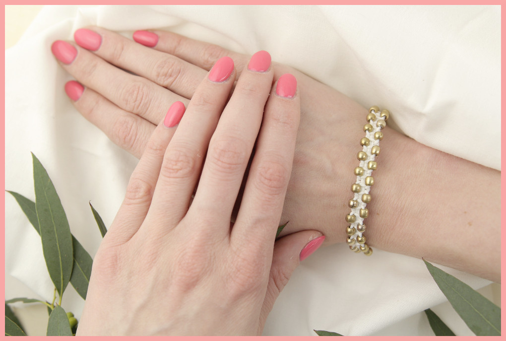 Makramee-Armband knüpfen mit Perlen mit frau friemel