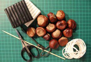 Material für Kastanienketten