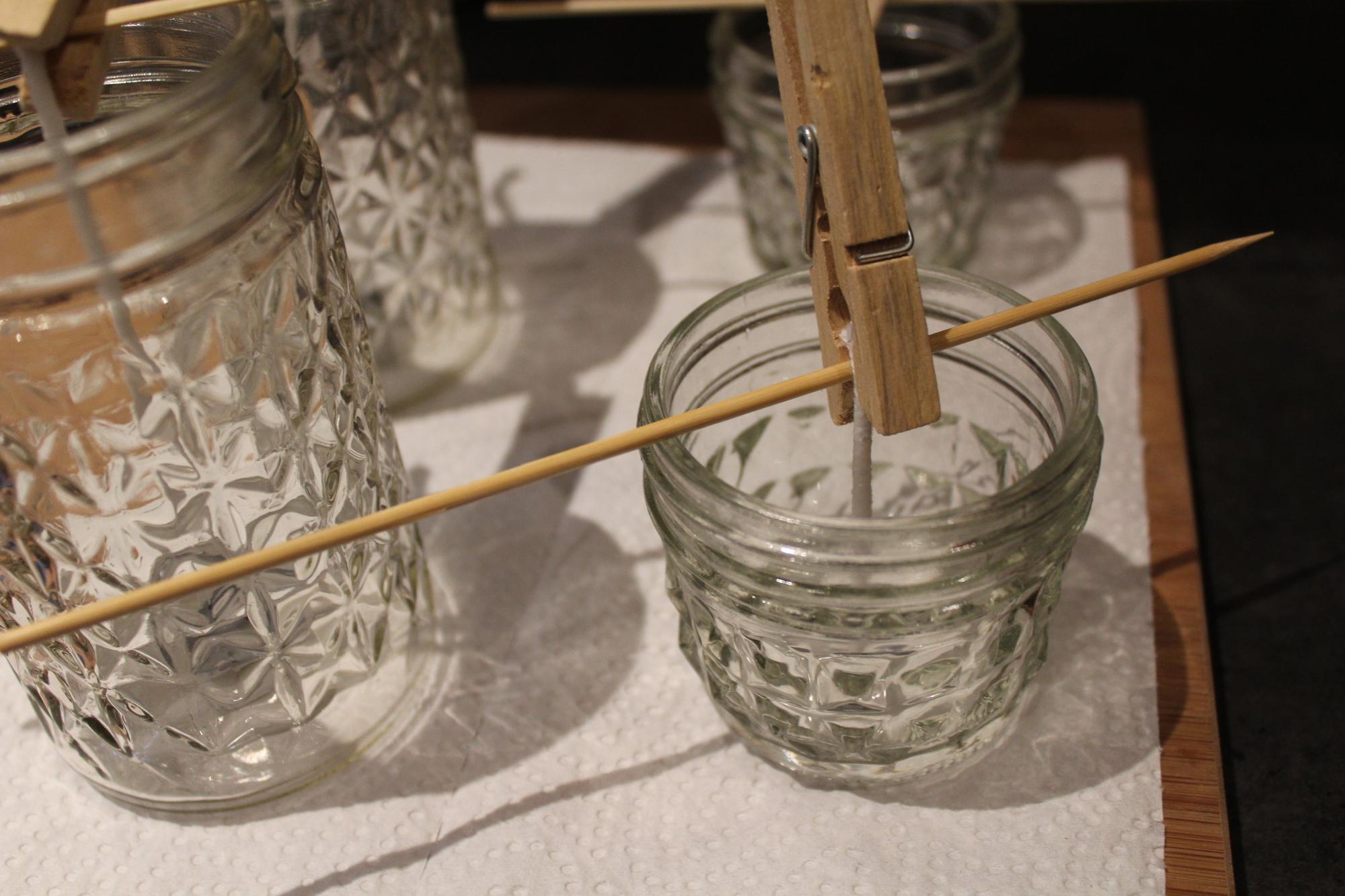 Gläser für Kerzen