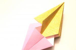Origami Diamant ineinanderschieben