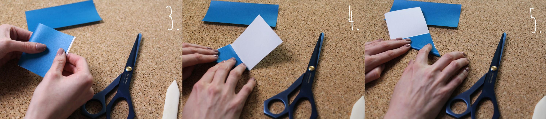 Origami Herz Anleitung Schritt 3-5