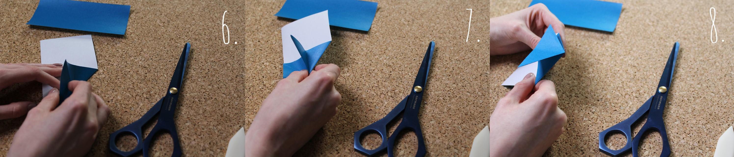 Origami Herz Anleitung Schritt 6-8
