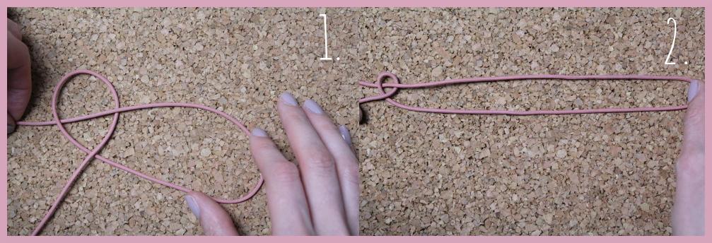 Armbänder knüpfen - Fischschwanz Armband flechten mit frau friemel Schritt 1-2