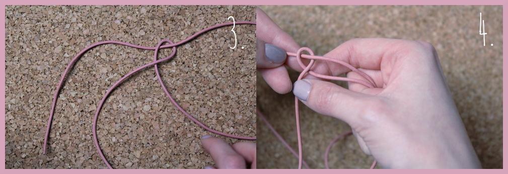 Armbänder knüpfen - Fischschwanz Armband flechten mit frau friemel Schritt 3-4
