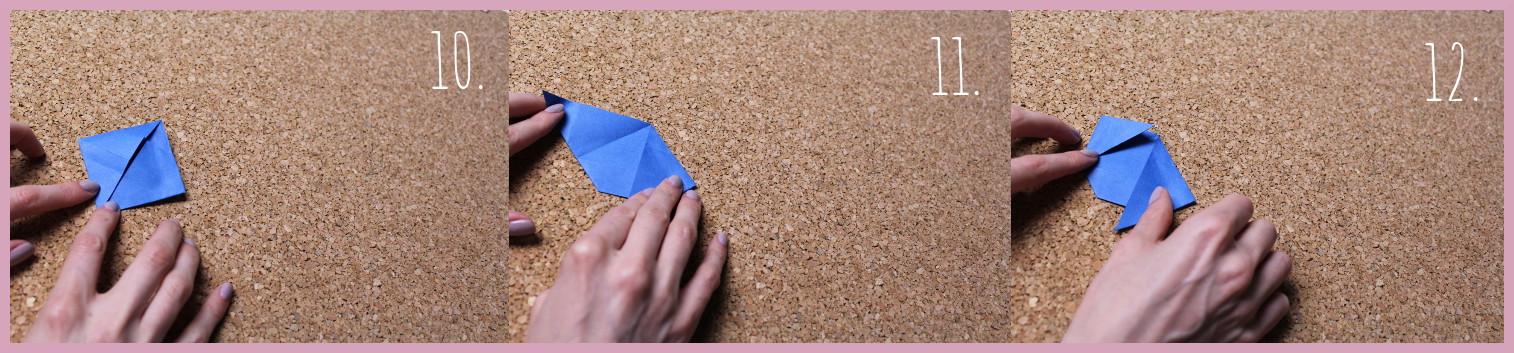 Origami Segelschiff Anleitung Schritt 10-12