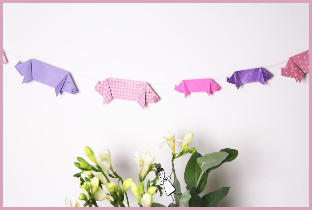 Origami Schwein Einfach Selber Falten Frau Friemel