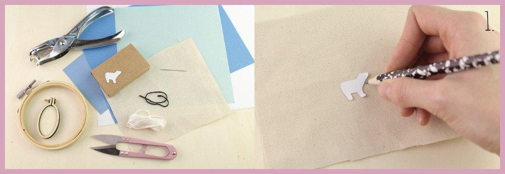 Kleine selbstgemachte Geschenkidee Ministickbild - Bastelanleitung von frau friemel - Material,Schritt 1