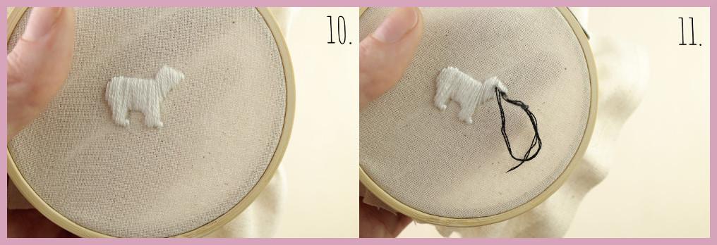 Kleine selbstgemachte Geschenkidee Ministickbild - Bastelanleitung von frau friemel Schritt 10-11