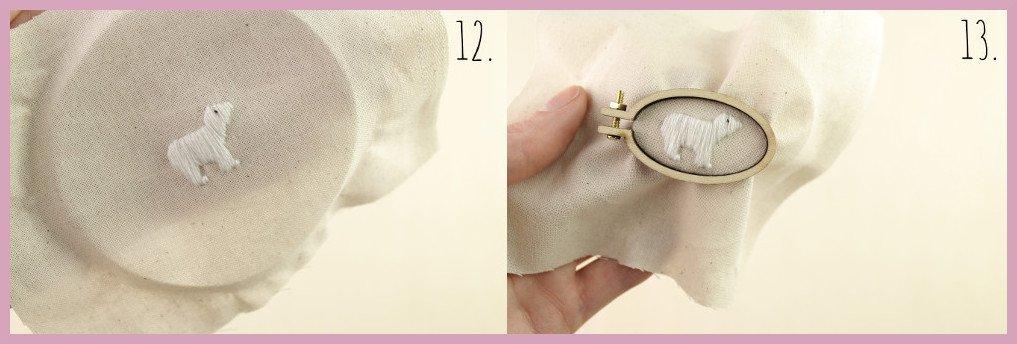 Kleine selbstgemachte Geschenkidee Ministickbild - Bastelanleitung von frau friemel Schritt 12-13