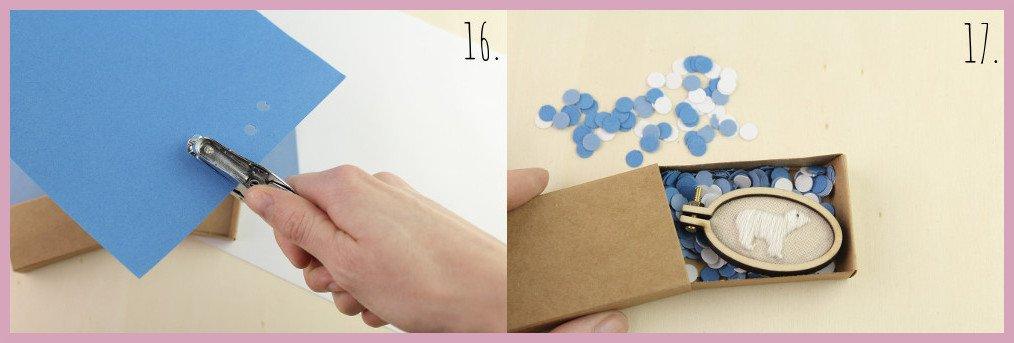 Kleine selbstgemachte Geschenkidee Ministickbild - Bastelanleitung von frau friemel Schritt 16-17