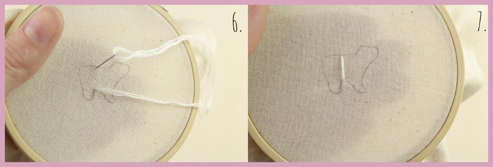 Kleine selbstgemachte Geschenkidee Ministickbild - Bastelanleitung von frau friemel Schritt 6-7