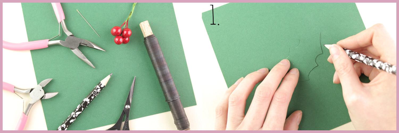 Papier Türkranz basteln mit frau friemel Schritt 1