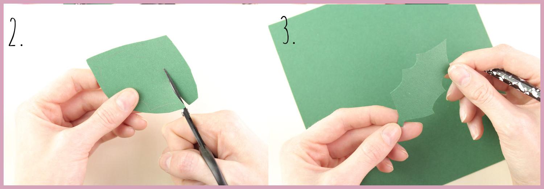 Papier Türkranz basteln mit frau friemel Schritt 2-3