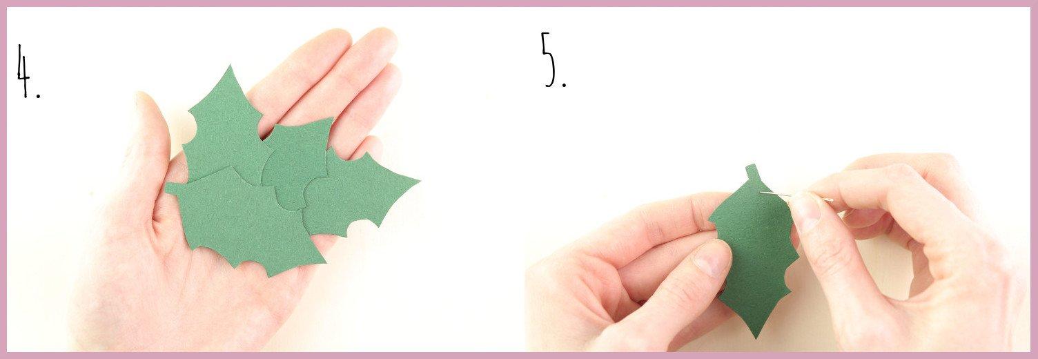 Papier Türkranz basteln mit frau friemel Schritt 4-5