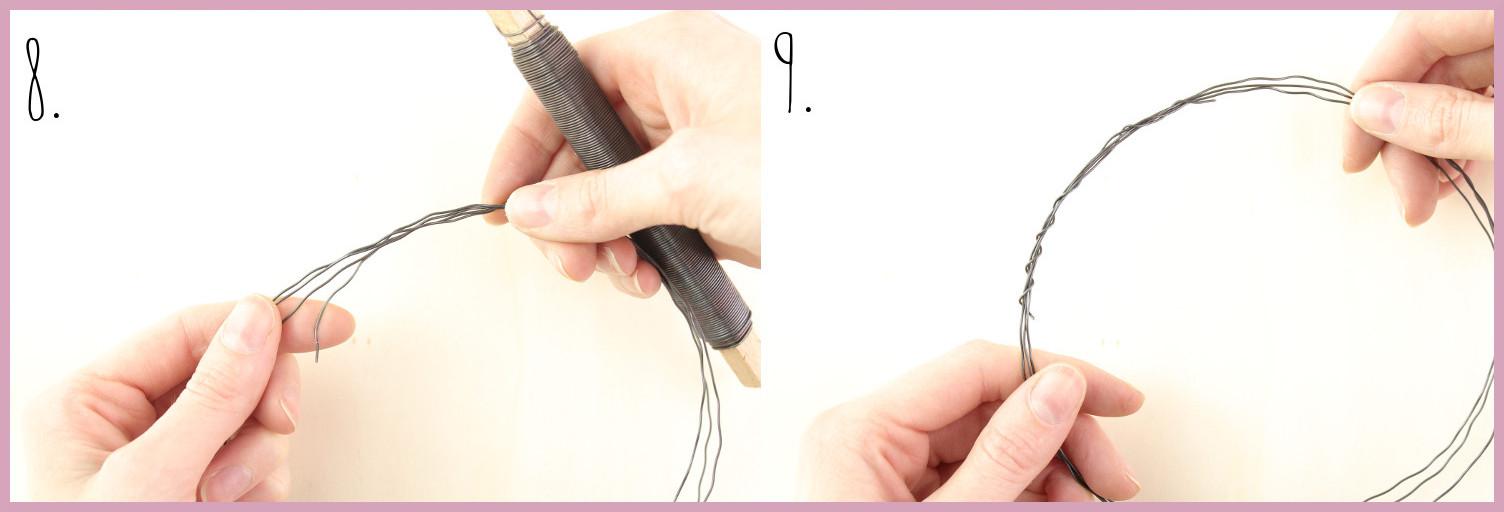 Papier Türkranz basteln mit frau friemel Schritt 8-9
