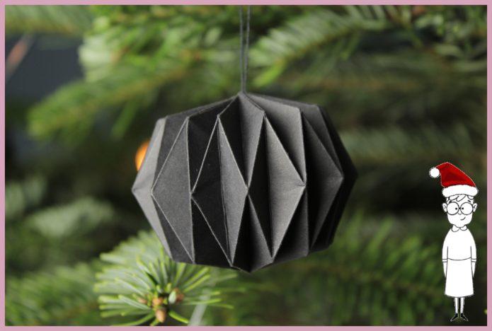 Weihnachtsbaumschmuck aus Papier basteln mit frau friemel