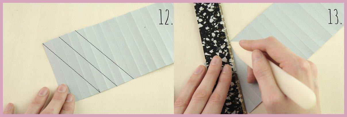 Weihnachtsbaumschmuck aus Papier falten mit frau friemel Schritt 12-13