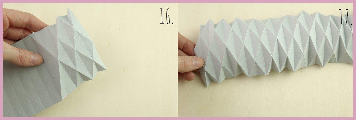 Weihnachtsbaumschmuck aus Papier falten mit frau friemel Schritt 16-17