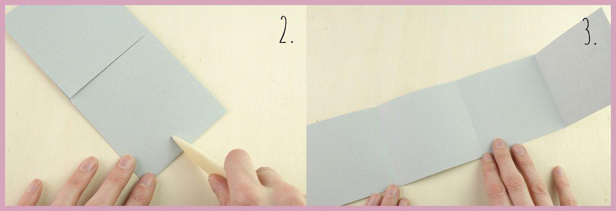 Weihnachtsbaumschmuck aus Papier falten mit frau friemel Schritt 2-3