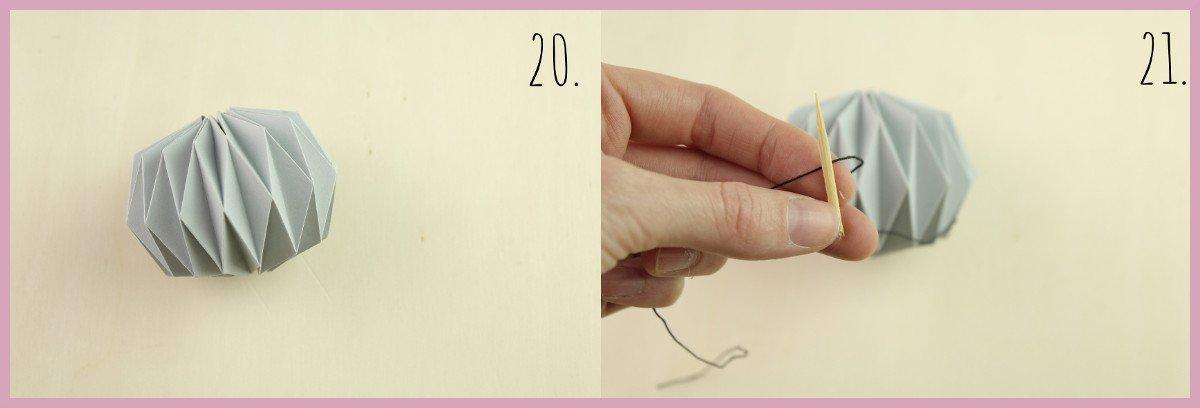 Weihnachtsbaumschmuck aus Papier falten mit frau friemel Schritt 20-21