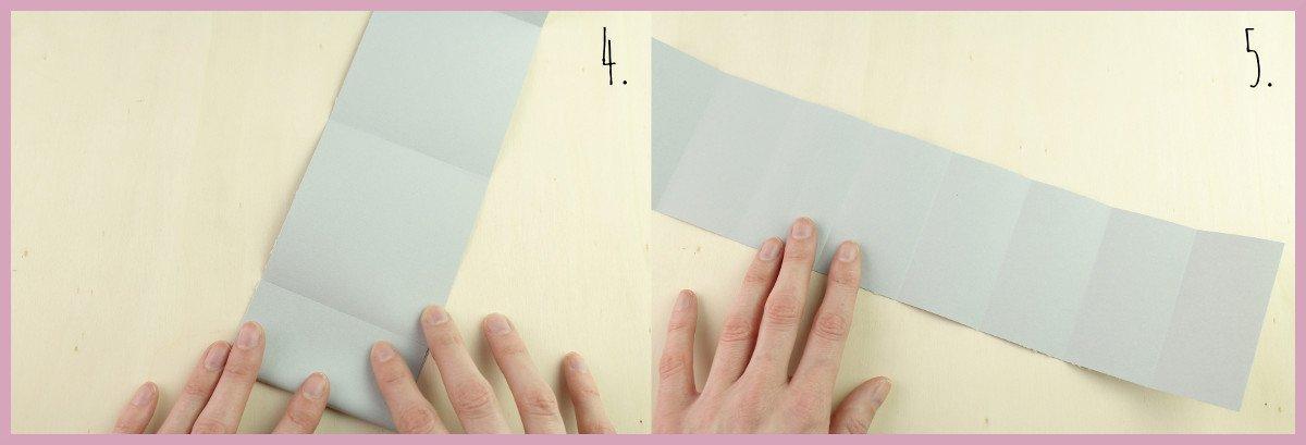 Weihnachtsbaumschmuck aus Papier falten mit frau friemel Schritt 4-5