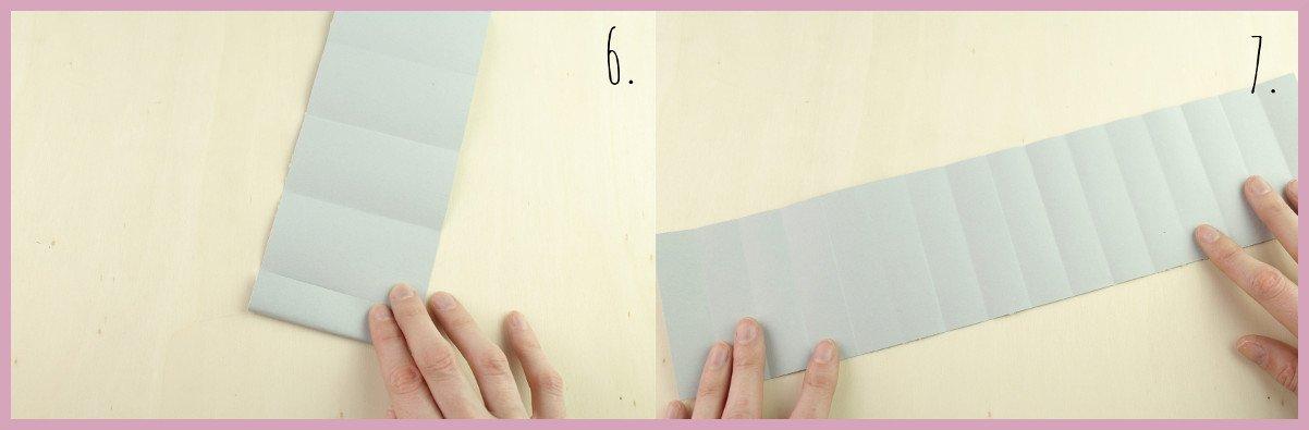Weihnachtsbaumschmuck aus Papier falten mit frau friemel Schritt 6-7