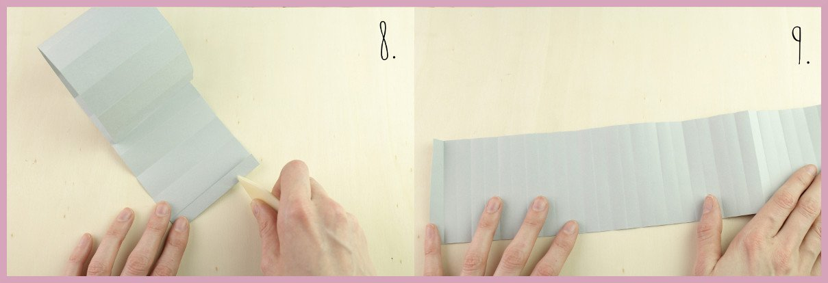 Weihnachtsbaumschmuck aus Papier falten mit frau friemel Schritt 8-9