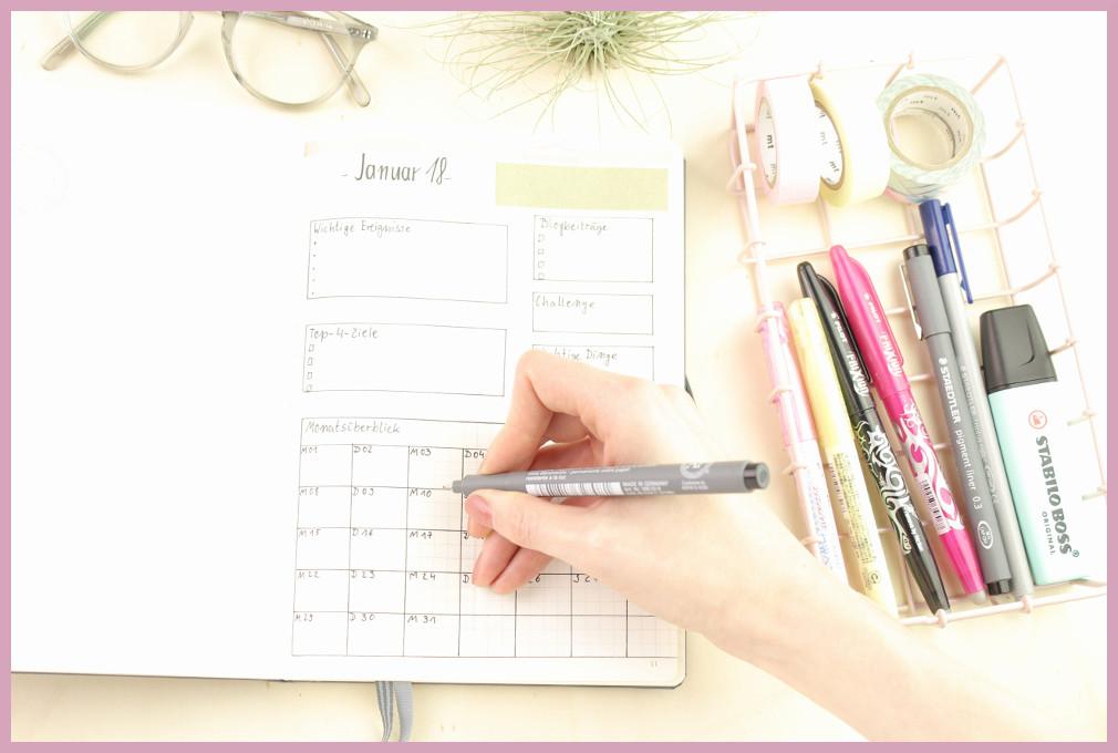 Leuchtturm Kalender Setup - Monatsübersicht von frau friemel