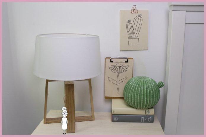 Stickbild selber machen Kaktus und Blume von frau friemel
