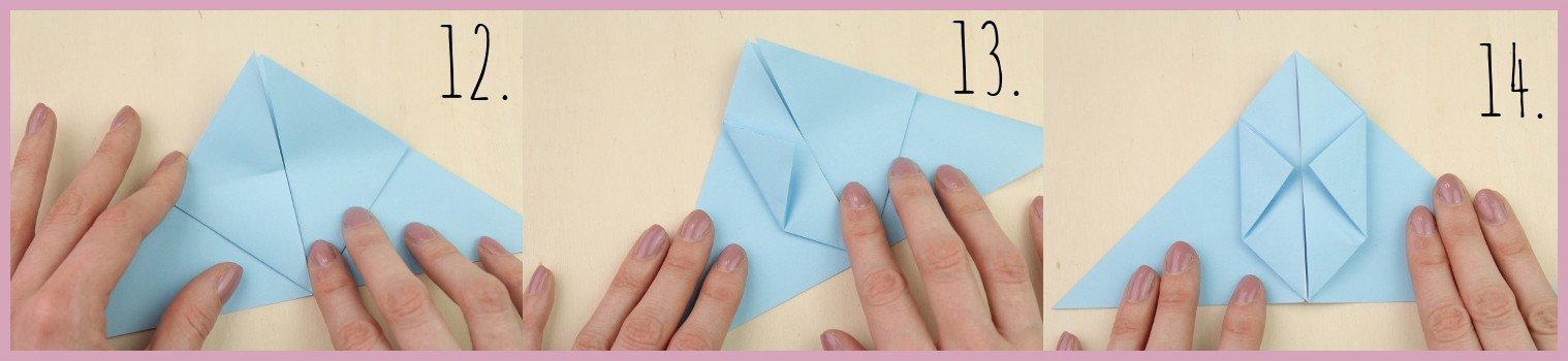 Anleitung Origami Huhn Schritt 12-14 von frau friemel