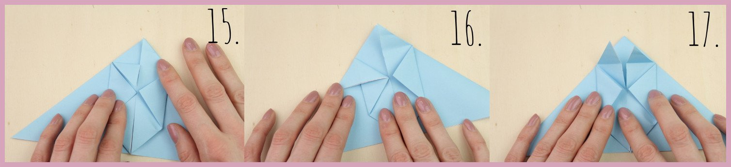 Anleitung Origami Huhn Schritt 15-17 von frau friemel