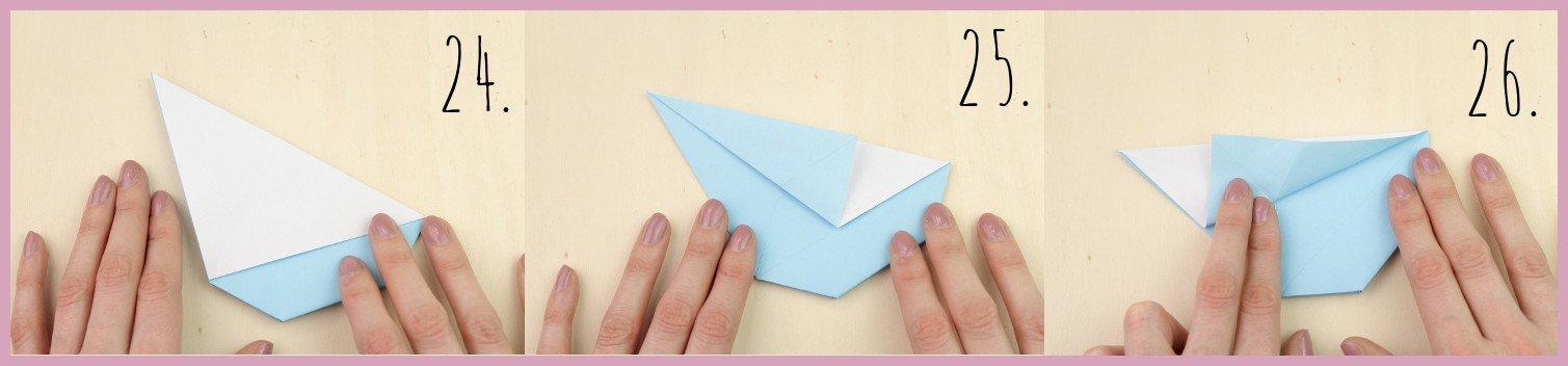 Anleitung Origami Huhn Schritt 24-26 von frau friemel